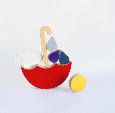 Dřevěné hračky pro děti podle principů Montessori